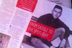 "From Saddle to Spotlight, Aaron Buggle features in ""Fit Magazine"""