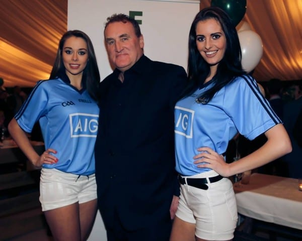 Models Amanda and Jade at the presscall for the screening for the RTE doc Men in Black